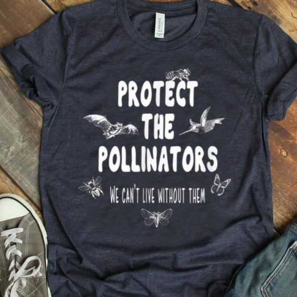 Protect The Pollinators Butterfly Bat Bees Moth shirt