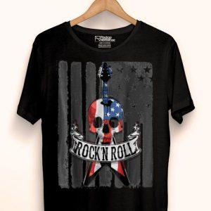 Rock N' Roll Guitar American Flag Vinatge Music Lover Band shirt