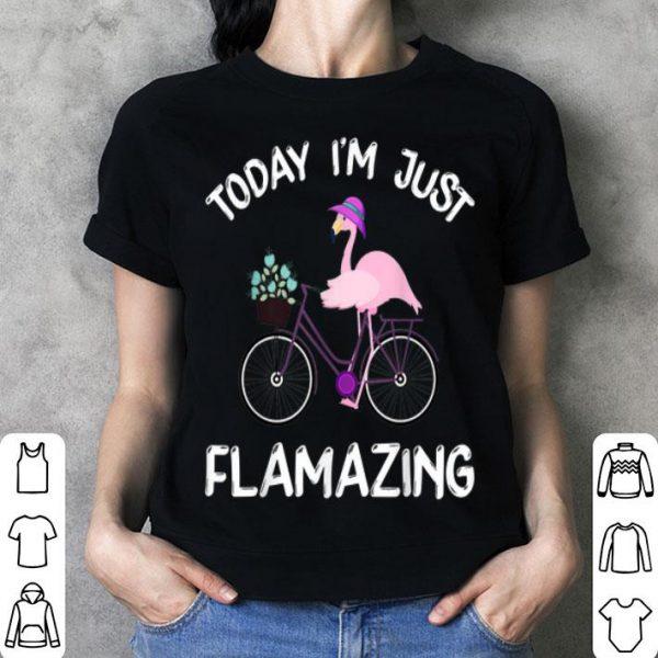 Today I Am Flamazing Amazing Flamingo Bicycle Lover shirt