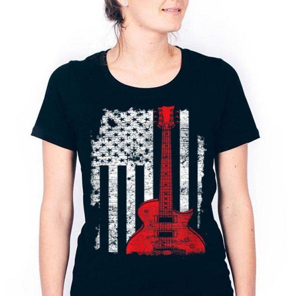 Usa Flag Guitar America Guitarist Music Lover shirt