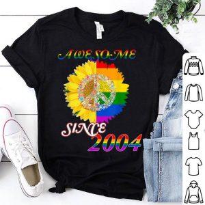 Vintage 2004 Birthdayt Sunflower Rainbow LGBT Flag shirt