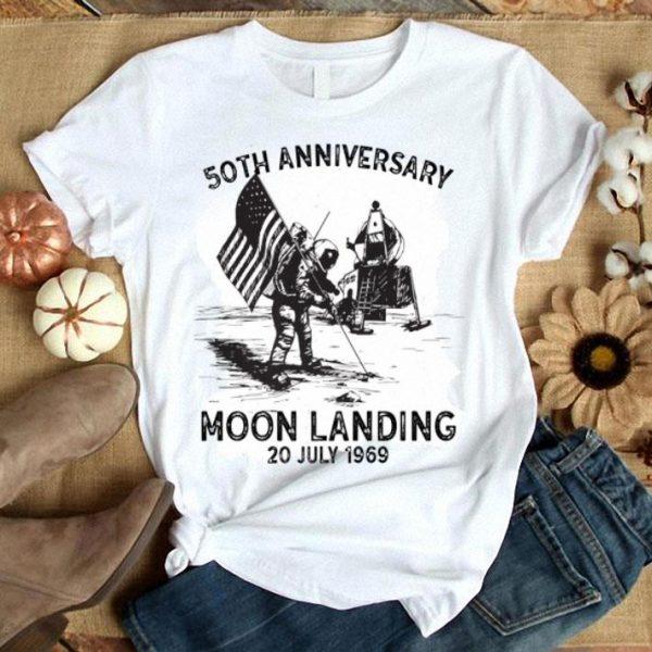 Vintage 50th Anniversary Moon Landing 1969 - 2019 Giant Leap shirt