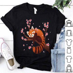 Vintage Red Panda Japanese Cherry Blossom Flower shirt