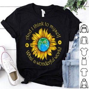 What A Wonderful World Sunflower Hippie shirt