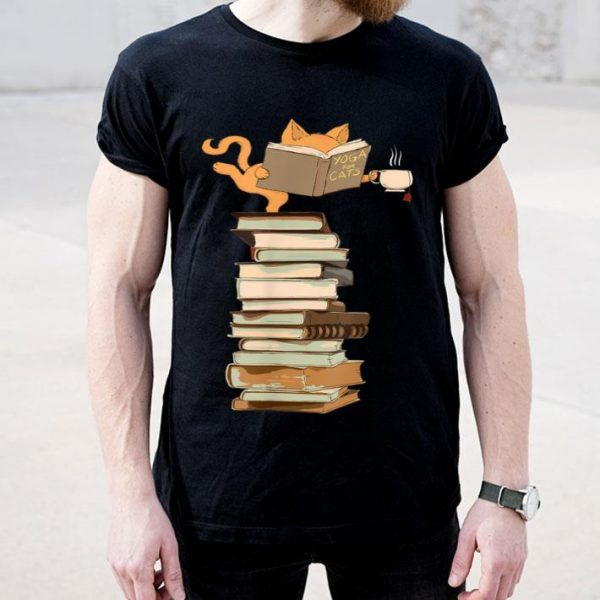 Yoga Kittens, Cats, Tea And Books Gift shirt