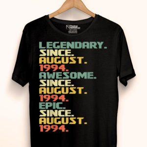 25th Birthday August 1994 25 Years Old shirt