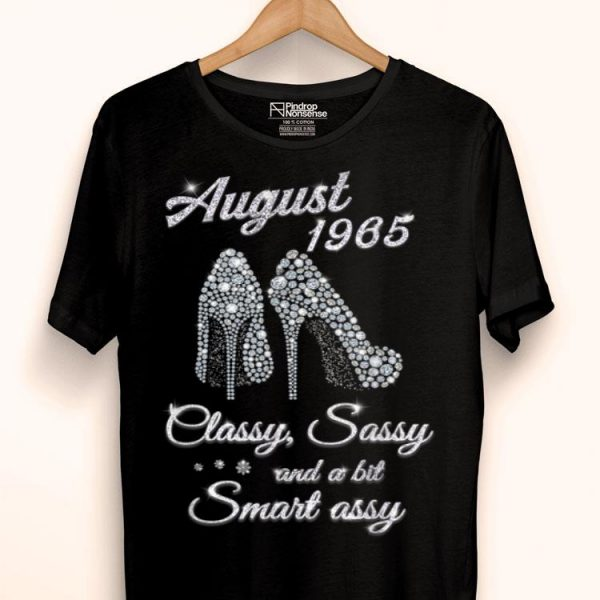 August 1965 Classy And Fabulous 54th Birthday shirt