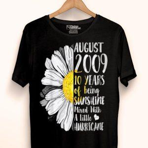 August Girl 10 Years Old Sunshine Birthday shirt