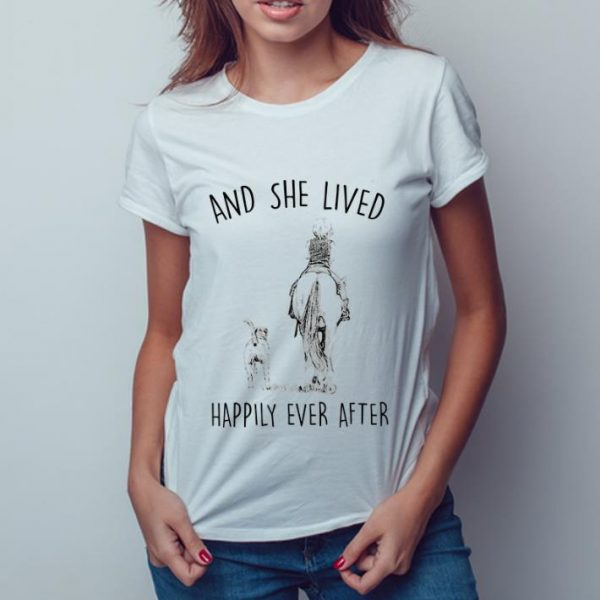 Awesome And She Lived Happily Ever After Horse Dogs shirt
