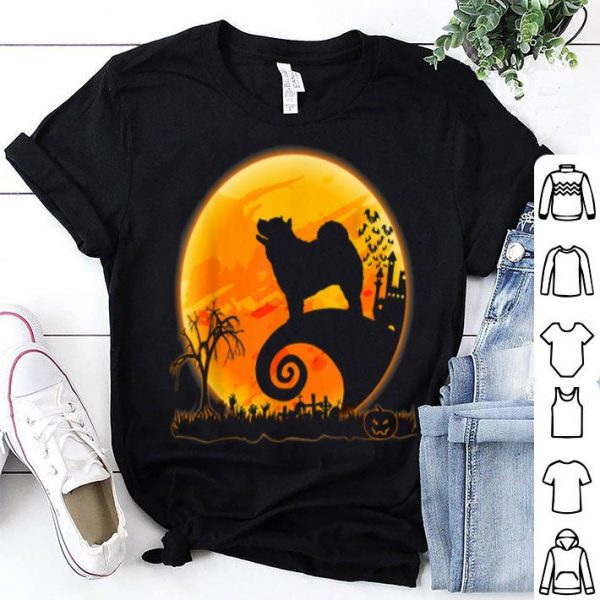 Awesome Chow Chow Dog And Moon Funny Halloween Costume Gift shirt