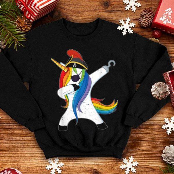 Awesome Dabbing Unicorn Pirate Halloween Costume Gift shirt