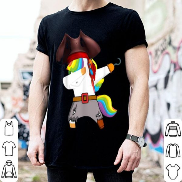 Awesome Dabbing Unicorn Pirate Halloween Kids Boys Girls shirt