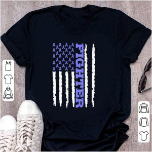 Awesome Fighter Cancer Awareness American Flag shirt