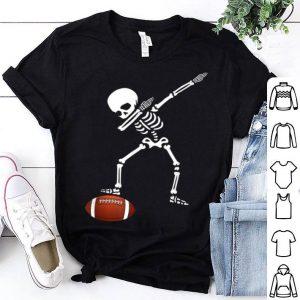 Awesome Football Skeleton Dabbing Sports Halloween Gift shirt