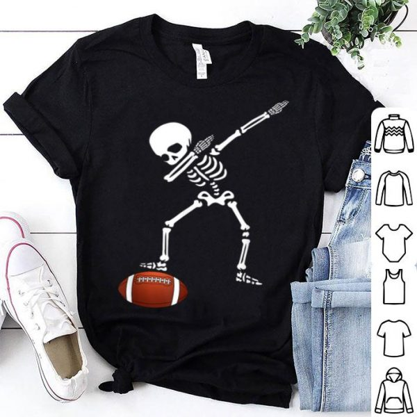 Awesome Football Skeleton Dabbing Sports Halloween Gift shirt