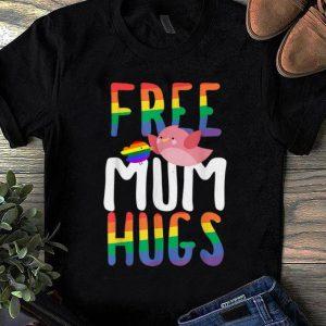 Awesome Free Mum Hugs LGBT Gay Pride Rainbow Bird Flag shirt