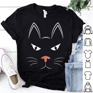 Awesome Funny Halloween Cat Face Costume Gift For Kids Women shirt