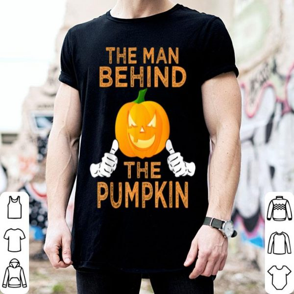 Awesome Mens Halloween Pregnancy Dad To Be Baby Reveal Funny Pumpkin Men shirt
