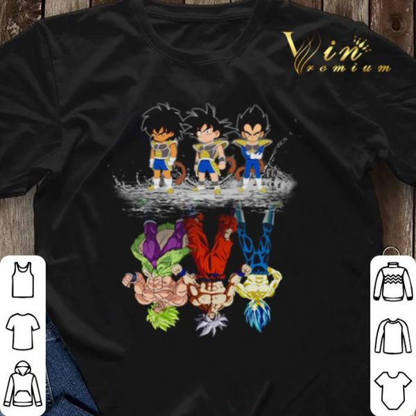 Baby Broly Son Goku Vegeta reflection water mirror Super Saiyans shirt sweater