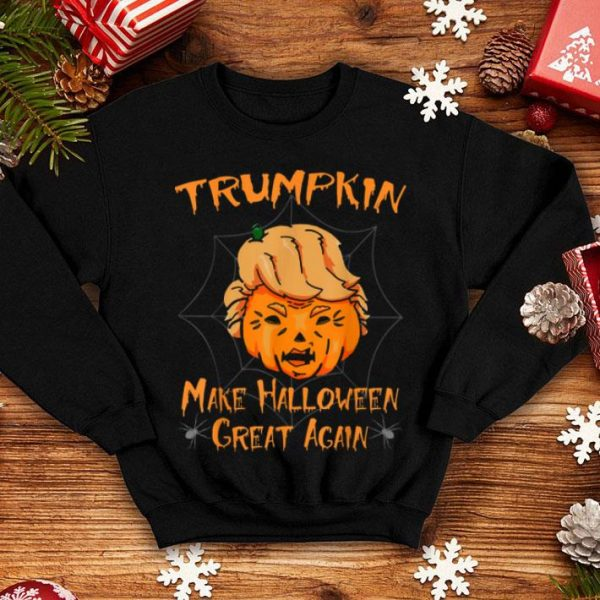 Beautiful Halloween Trumpkin Funny Make Halloween Great Again shirt