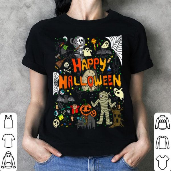 Funny Happy Halloween Scary Retro Gift shirt