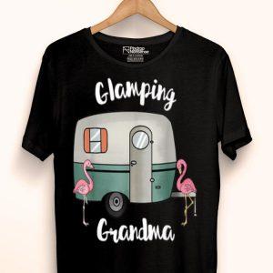 Glamping Grandma Camping Rv Flamingos shirt