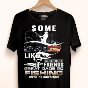 Great Dad Go Fishing With Daughters Fathers Day shirt