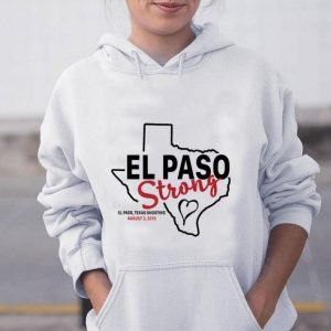 Hot El paso strong texas shoothing august map shirt
