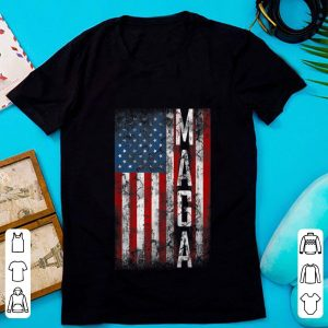 Hot Grunge MAGA American Flag shirt
