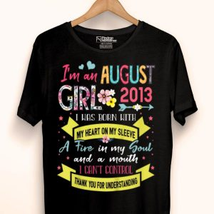 Kids I'm An August Girl 2013 6 Years Old 6th Birthday shirt