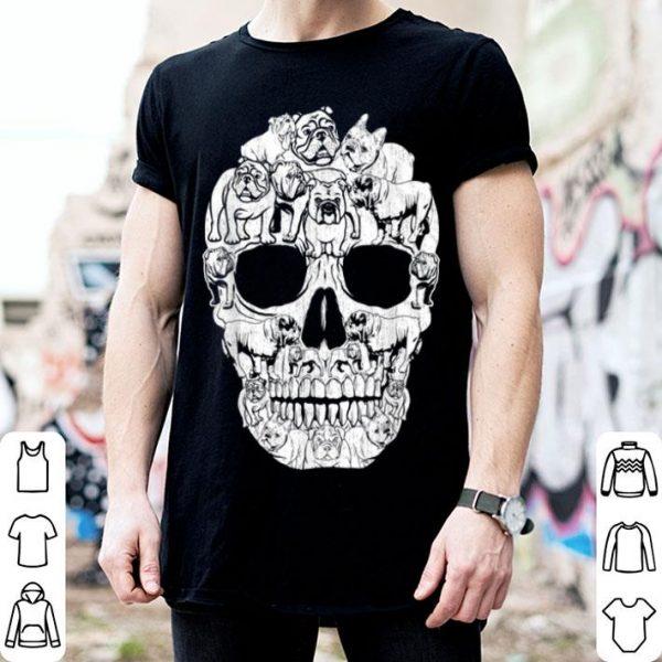 Nice English Bulldog Dog Skull Halloween Costumes Gift shirt