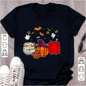 Nice Guinea Pigs Pumpkins happy halloween shirt