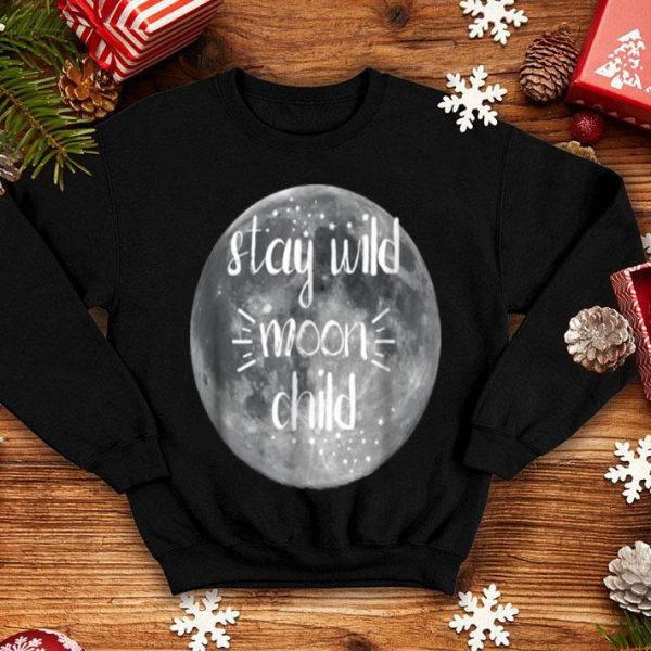 Nice Stay Wild Moon Child Witch Wiccan Pagan Halloween shirt