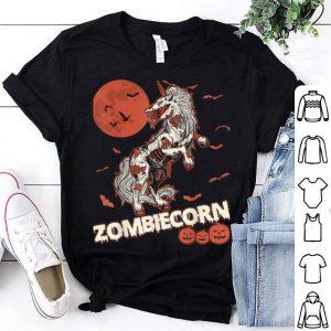 Nice Zombiecorn Zombie Unicorn Moon Pumpkin Halloween Costumes shirt