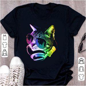 Official Rainbow Music Dj Cat shirt