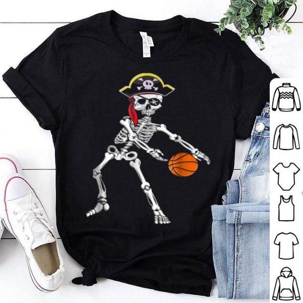 Original American Skeleton Pirate Flossing Basketball Halloween shirt