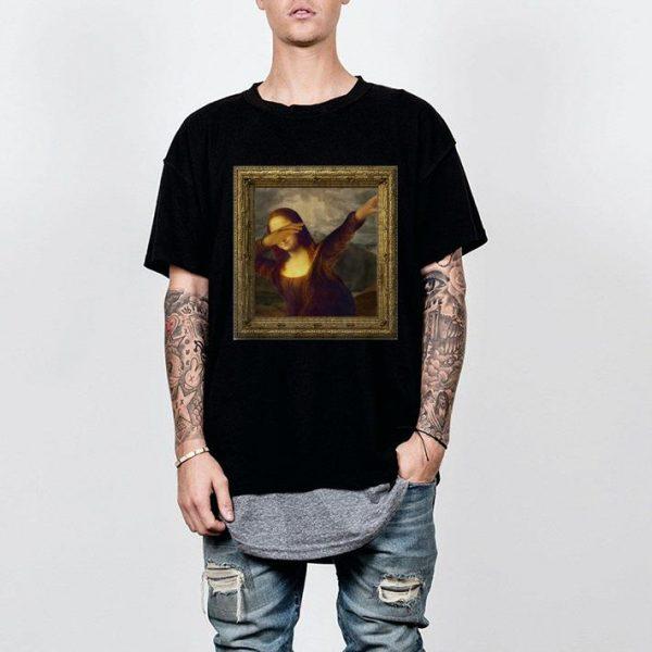 Original Dabbing Mona Lisa Painting shirt