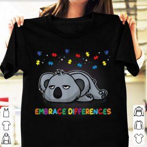 Original Embrace Differences Sassy Koala Autism Awareness shirt