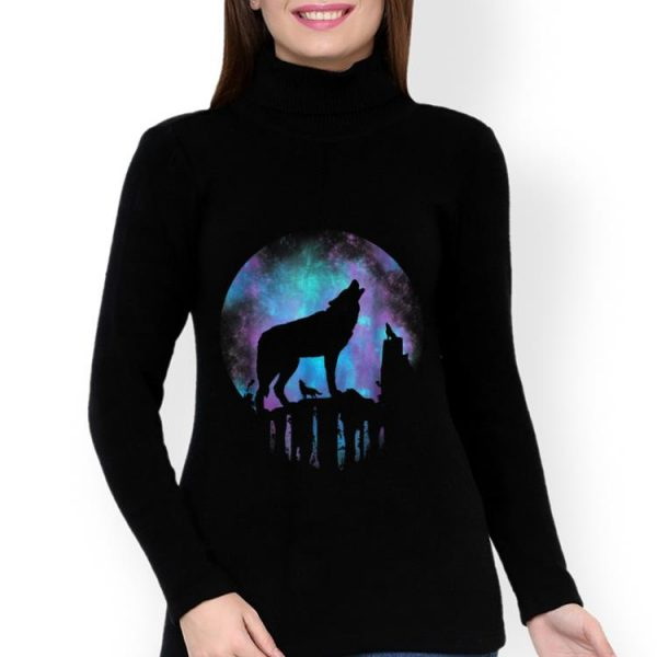 Original Howling Wolf Galaxy Moon shirt