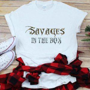 Original Savages In The Box Metal Macabre Font shirt