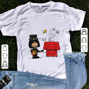 Original Slash Guns N' Roses Snoopy And Woodstock shirt