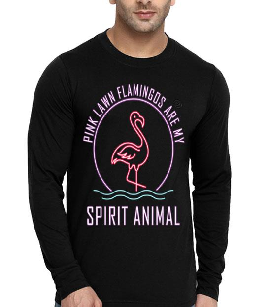 Pink Lawn Flamingos Are My Spirit Animal Women shirt