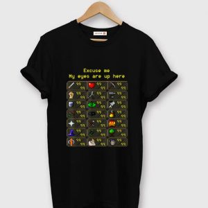 Premium Excuse Me My Eyes Are Up Here Game shirt