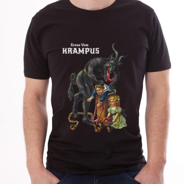 Premium Greetings From Gruss Vom Krampus Demon Christmas shirt