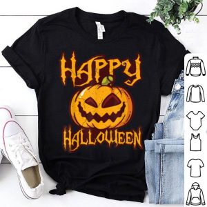 Premium Happy Halloween Pumpkin Face Cartoon Funny shirt