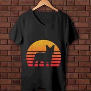 Premium Vintage Retro Sunset French Bulldog Silhouette shirt