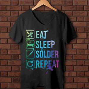 Pretty Eat Sleep Solder Repeat Retro shirt