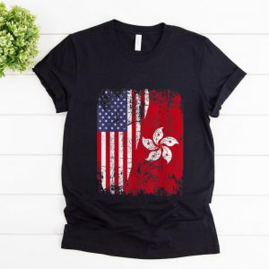Pretty Hong Kong Half American Flag shirt