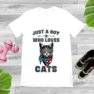 Pretty Just A Boy Who Love Cat American shirt