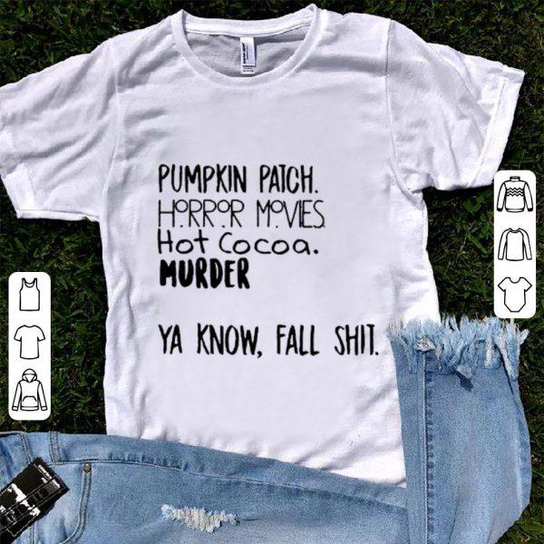 Pretty Pumpkin Patch Watch Horror Movie Halloween shirt